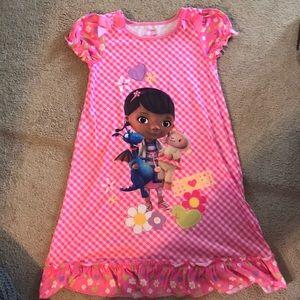 Little girls Disney store Doc Mcstuffins nightgown